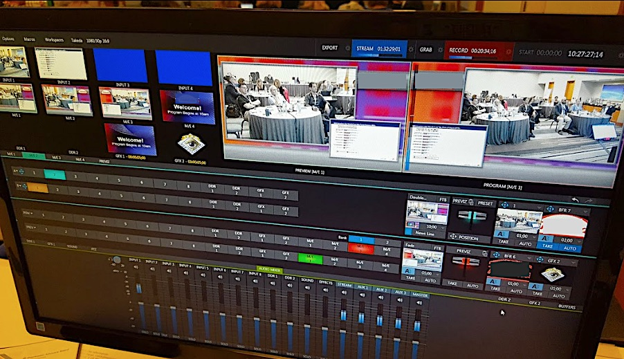Tricaster Interface for Corporate Webcast